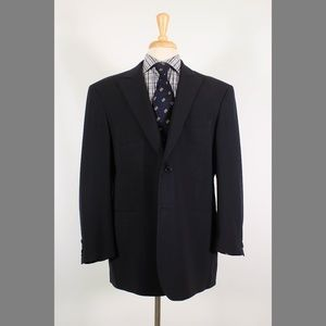 Coppley Custom 42R Black Sport Coat B186